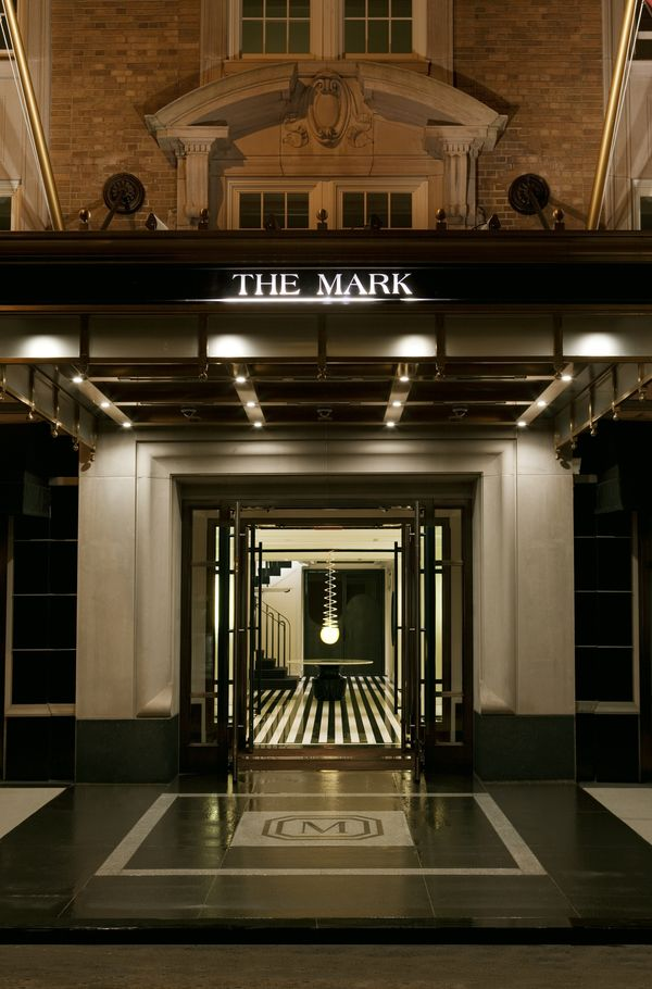 THE MARK Hotel Entrance Photographer Todd Eberle HiRes. The Mark Hotel in New York  By Glenn Belverio and Diane Pernet   A