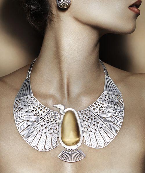 Azza Fahmy - Pharaonic- Vulture Necklace