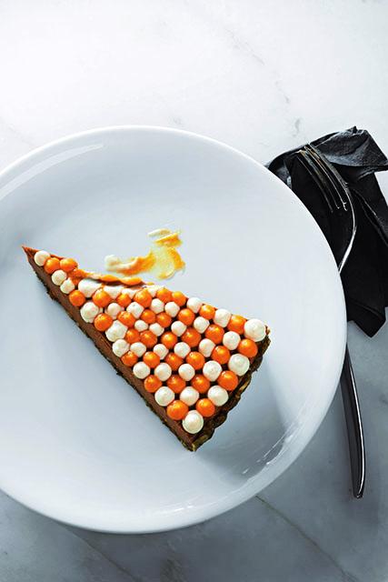 PUMPKIN CHOCOLATE PIE. Chocolate Pie. Sous Vide Pumpkin. Coconut and Cardamom Cream